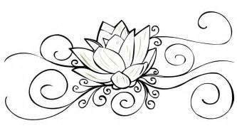 Small Lotus Flower Tattoo Designs Sketch Coloring Page sketch template