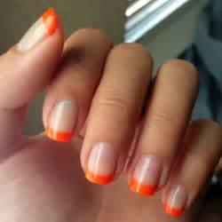 colored tips nails diy manicure of the week orange chagne taste