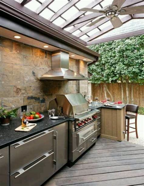 Outdoor Bbq Kitchen Ideas by 56 Cool Outdoor Kitchen Designs Digsdigs
