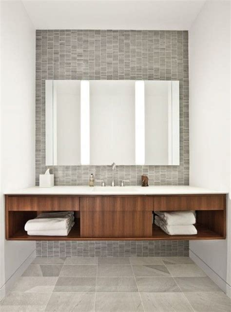 tiny mid century design on budget by andy pluta 25 best ideas about modern bathrooms on grey