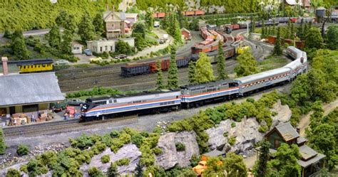toms train station you just got to see it samuel information model train layouts amtrak station