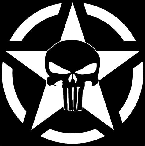 Jeep Skull Sticker Jeep Punisher Skull Decal Vinyl Sticker