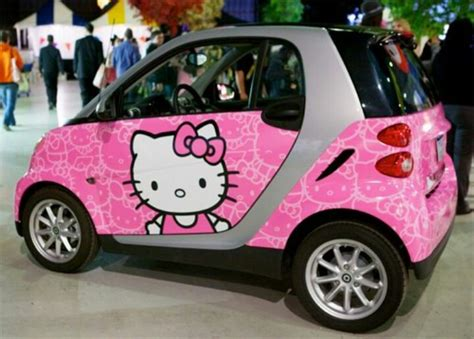 smart car pink smart car hello kitty pink
