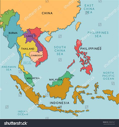 south asia countries map east south asia map map of south east asia nations line