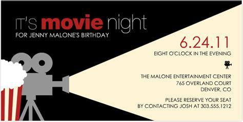movie night party invitation party invitations best movie party invitations detail