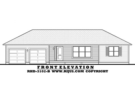 Rijus Home Design Ltd Ontario House Plans Custom Home Bungalow House Plans With Garage In Back