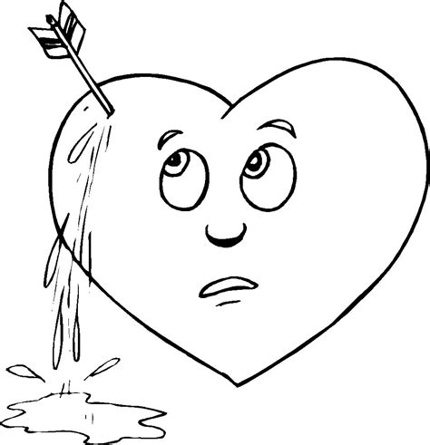 free coloring pages human heart free coloring pages of a human heart