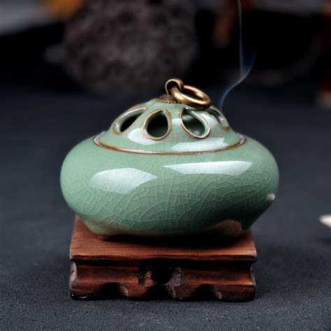 Vintage Handmade Clay Kalung Unik Gift handmade china ceramic mulit colors style aromatherapy antique incense burner gifts and crafts