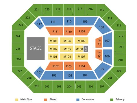 us cellular seating us cellular center seating chart and tickets formerly u