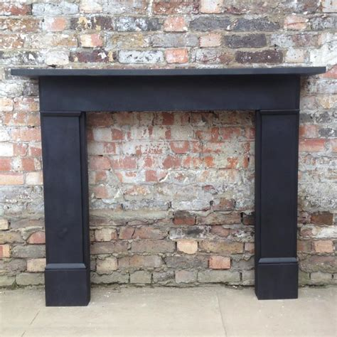 Black Fireplace Surround by Reclaimed Black Slate Fireplace Surround Decorative