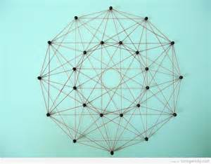 Geometric String Patterns Free - geometrical string made with thumbtacks and threads