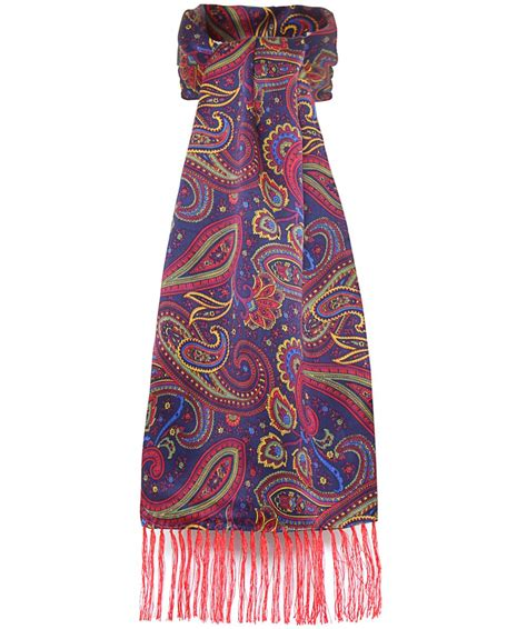 tootal silk paisley scarf lyst