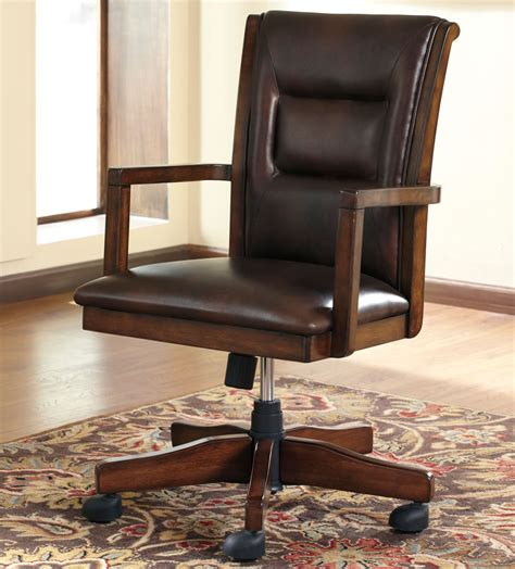 wood and leather desk chair furnitures wood leather swivel desk chair veneer or