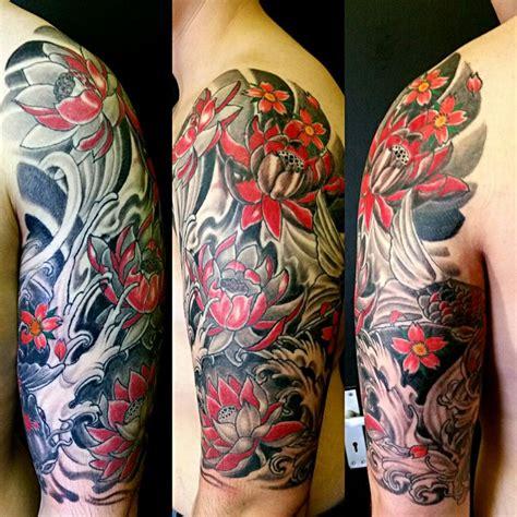 japanese tattoo rules top arm part of irezumi traditional japanese half sleeve