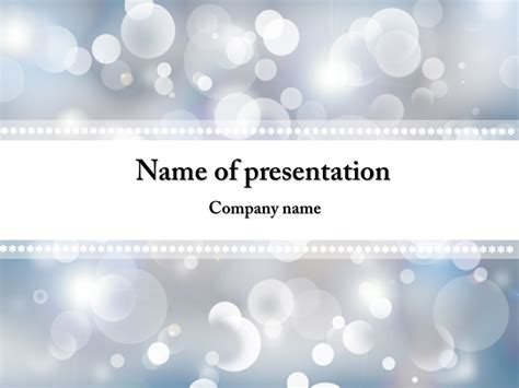 winter powerpoint template free winter snowflakes powerpoint template background