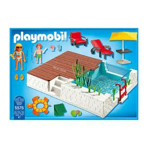 playmobil schwimmbad playmobil swimming pool with terrace 5575 163 20 00