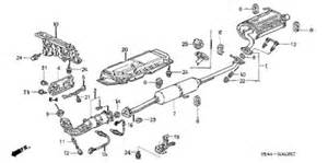 Honda Crv Exhaust System Diagram Honda Store 2003 Crv Exhaust Pipe Muffler Parts