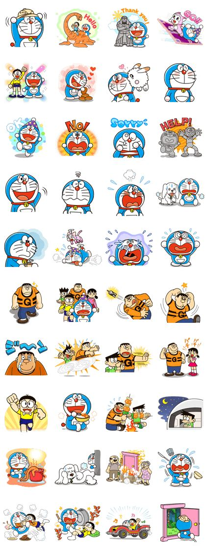 Sticker Set Doraemon By Paupery this sticker set features carefully selected frames from 5