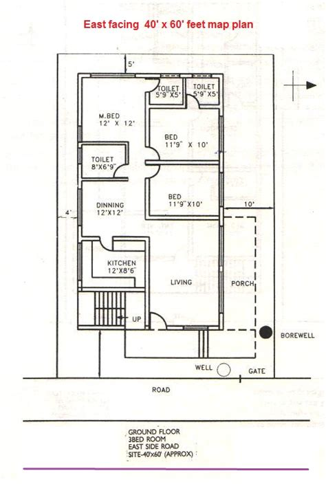 East Facing House Vastu Plan East House Plans Per Vastu House Design Plans