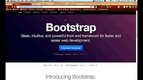 bootstrap js tutorial youtube twitter bootstrap tutorials getting started lesson 1