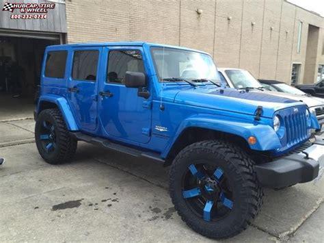 jeep blue and black 2014 jeep wrangler xd series xd811 rockstar 2 wheels satin