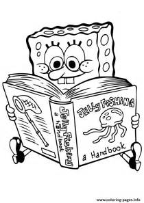 spongebob thanksgiving coloring pages spongebob reading book coloring page8e21 coloring pages