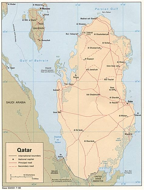 physical map of qatar qatar maps perry casta 241 eda map collection ut library