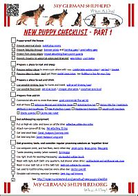 new puppy list new puppy checklist mygermanshepherd org