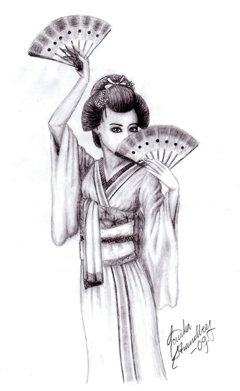 dancing geisha by jessilla88 on deviantart