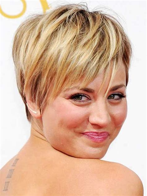 How To Get Kaley Cuoco Haircut | 2015 short hair round face hairstyles