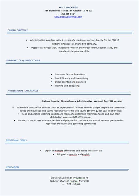 Cv Modele Simple