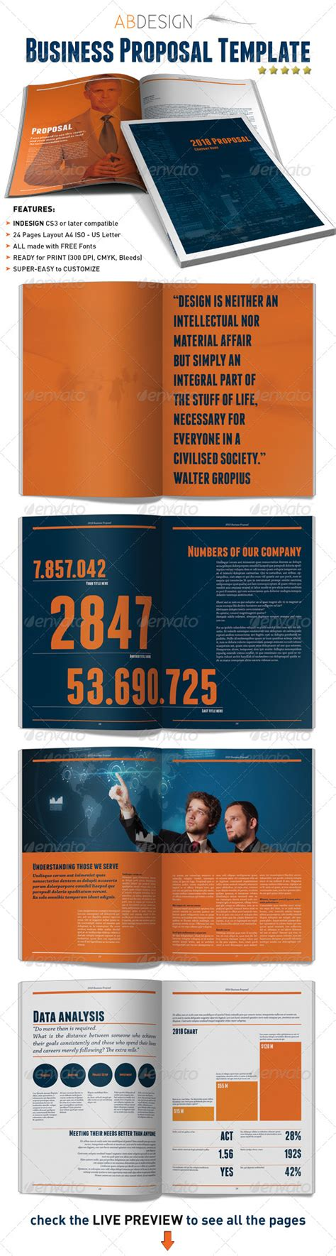 indesign template proposal business proposal indesign template business proposal