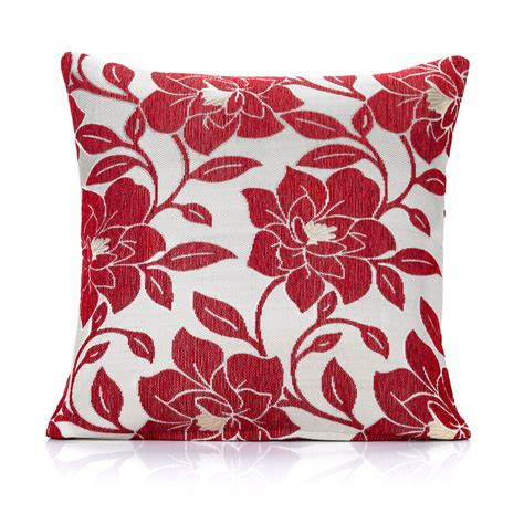 red cusions flowered cushions floral cushions chiltern mills