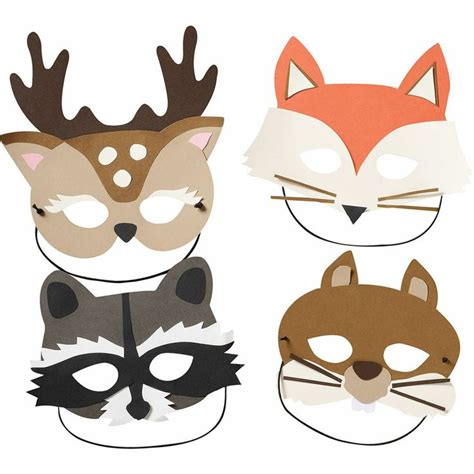 printable squirrel mask paper woodland masks kit at paper source woodland red