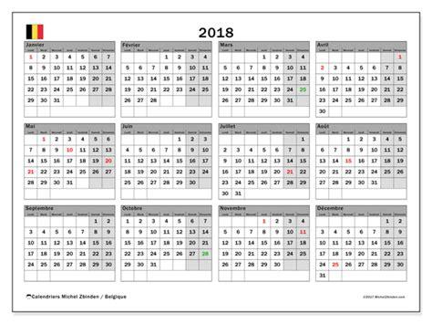 Calendrier Vacances Scolaires Belgique Calendrier 2018 Belgique