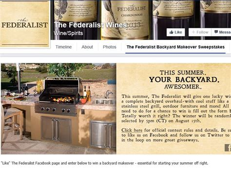 Makeover Sweepstakes - the federalist backyard makeover sweepstakes