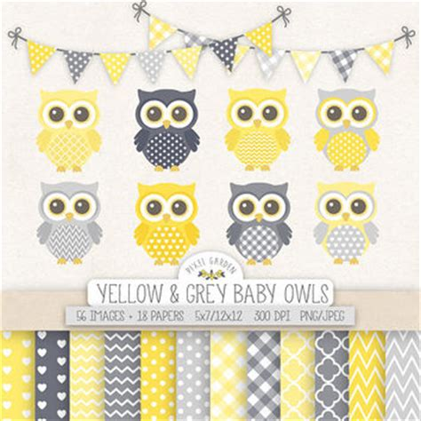 Yellow And Grey Owl Baby Shower by Best Grey And Yellow Chevron Baby Shower Products On Wanelo