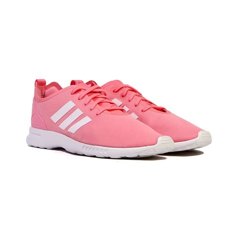 adidas zx flux smooth pink white s shoes s82885