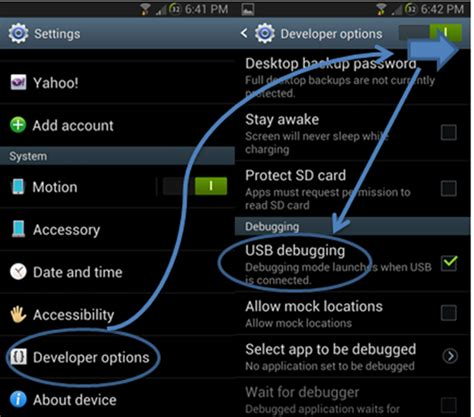 debugging android guide activate usb debugging mode litecam android