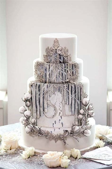 Winter Wedding Cakes by 17 Best Ideas About Winter Wedding Cakes On