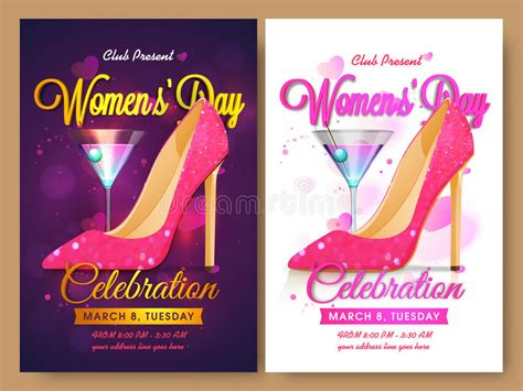 Set Of Template Banner Or Flyer For Women S Day Stock Illustration Illustration Of Royalty Free Flyer Templates