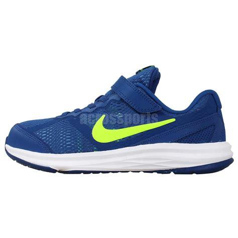 velcro running shoes nike fusion run 3 psv blue volt preschool velcro