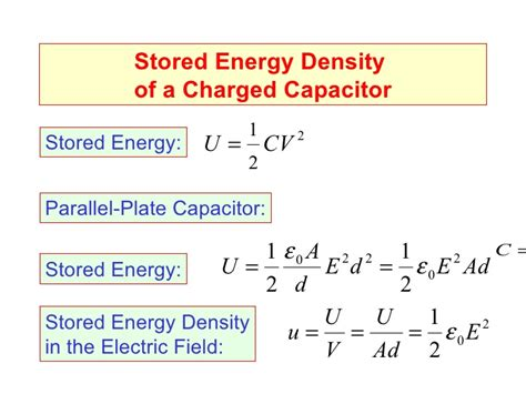 energy stored in a parallel plate capacitor intro to capacitors