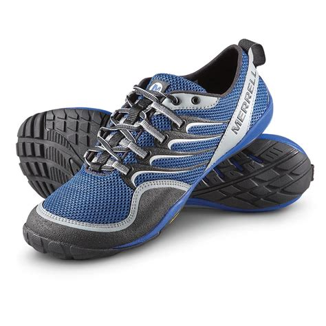 merrel sneakers s merrell 174 barefoot trail glove shoes blue 220252