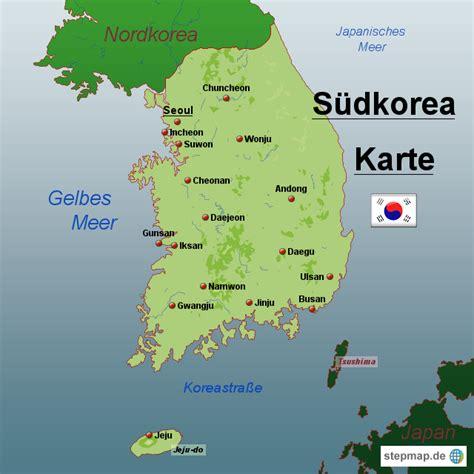 Karet Korea by Suedkorea Karte Map