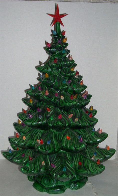 vintage ceramic lighted tree 24 inch ceramic