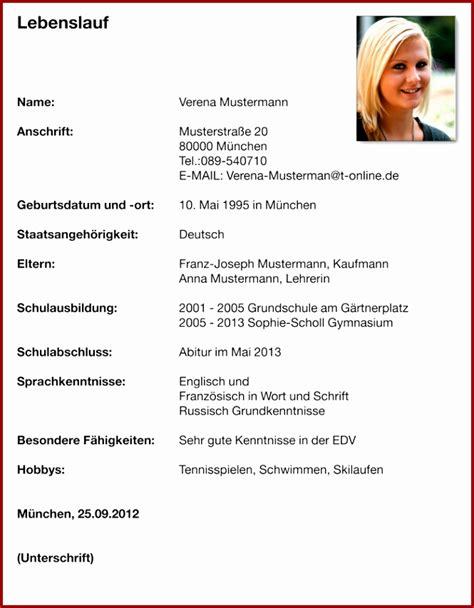 Lebenslauf Fur Ausbildung Woz4eq Der Perfekte Lebenslauf F 252 R Bewerbung Zur Ausbildung 762546