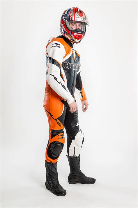 Motorrad Lederkombi Orange by Alne Lederkombi Race Toxic Orange 2 Alne