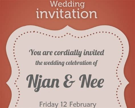 Photoshop Invitation Card Template by Wedding Invitation Wording Wedding Invitation Design