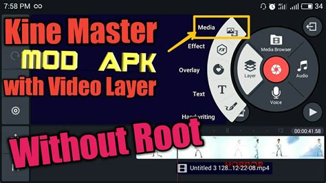 master apk kine master mod apk with layer without root